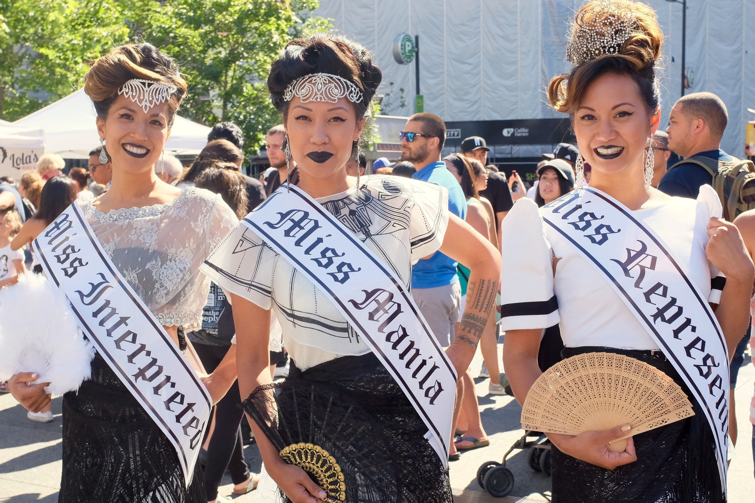 Aguillon's HATAW beauty queens. Photo by J. Austria