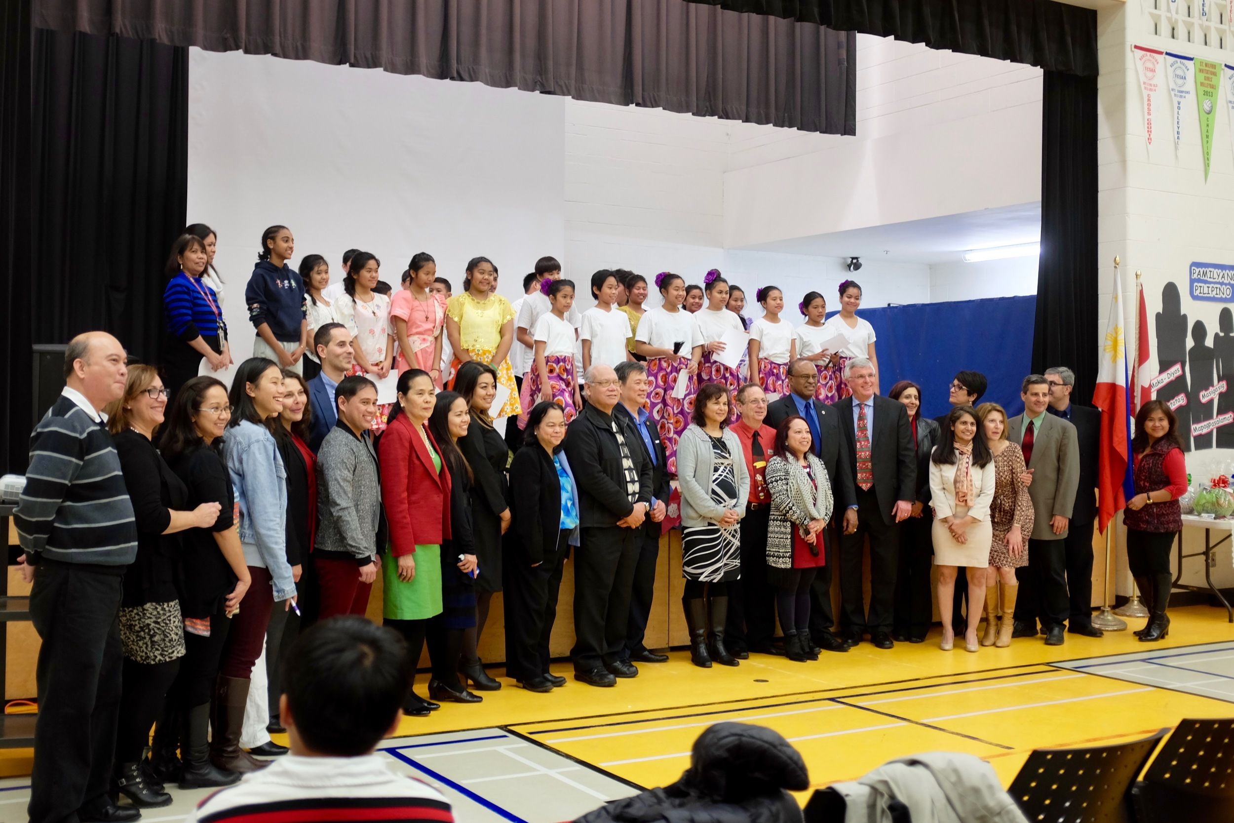 TCDSB staff with Filipino leaders and community members.