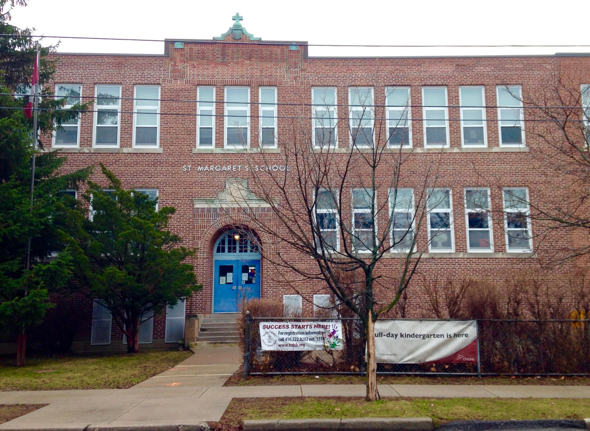St. Margaret's JK-Grade 4 location on Carmichael Avenue. All photos by J. Austria.
