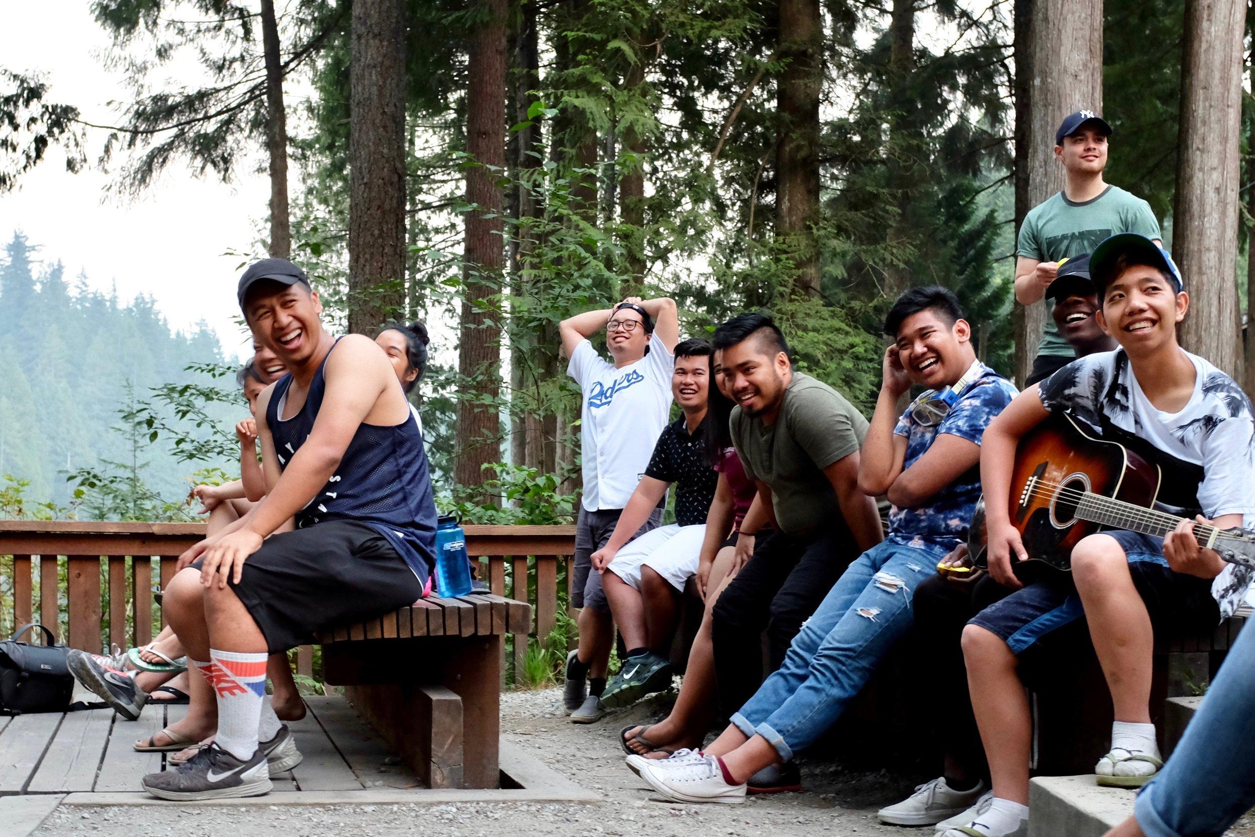 KAMP mentors and mentees sharing a laugh during group skits. Photo by J. Austria
