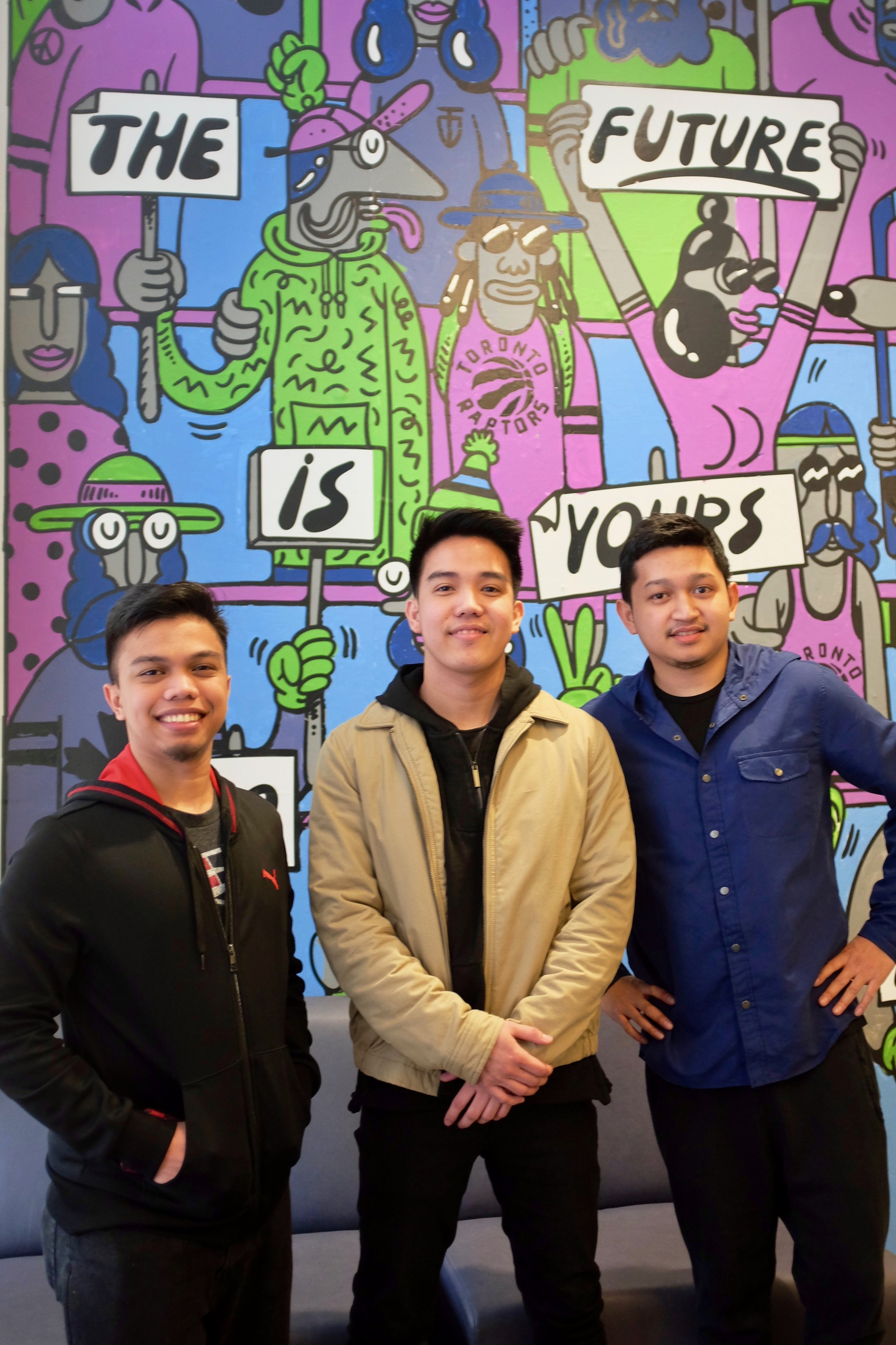 """The Future is Yours"" - Ezra Baltazar, Paolo Dela Cruz, and Jim Castor. Photo by J. Austria."