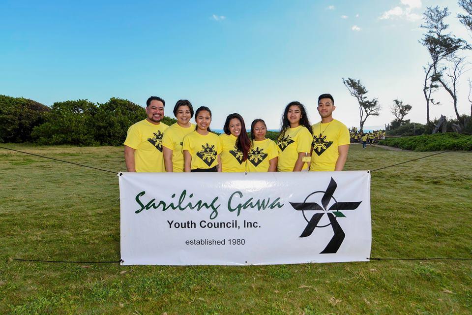 Canadian contingent from L-R:Andre Mejia, Monica Batac, Hilary Naluz (20), Karla Villanueva Danan (25), Glyn Narca (20), Maria Toquero (22), and Kristian Pacpaco (23). Photo by Anson Lam.