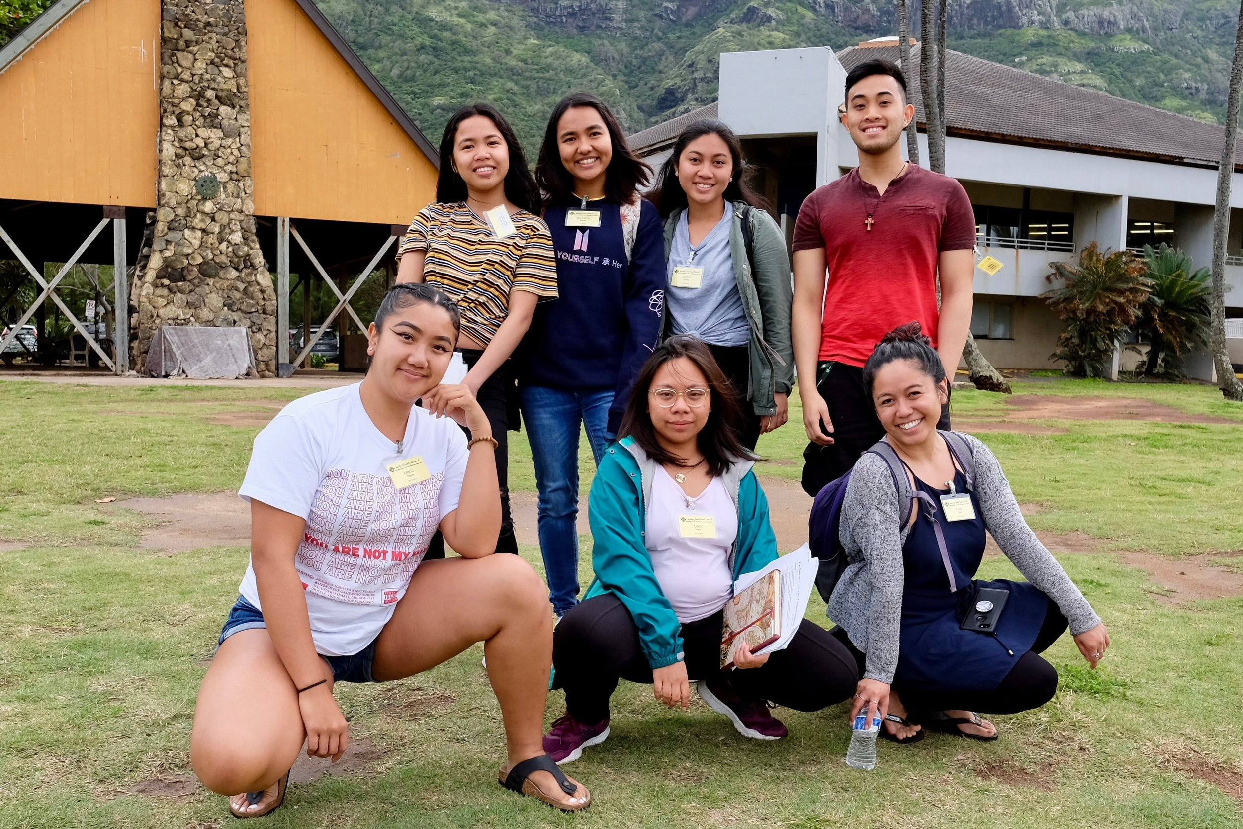 From L-R, front row: Maria Toquero, Glyn Narca, Karla Villanueva Danan. Back row: Hilary Naluz, Charlotte Faye Esquida of Big Island, Chelsa Gonong of Big Island, and Kristian Pacpaco. Photo by J. Austria.