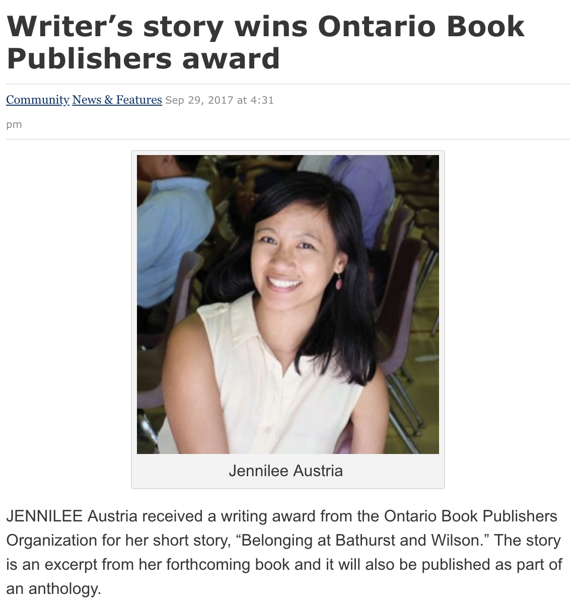 From the article:  http://philippinereporter.com/2017/09/29/writers-story-wins-ontario-book-publishers-award/