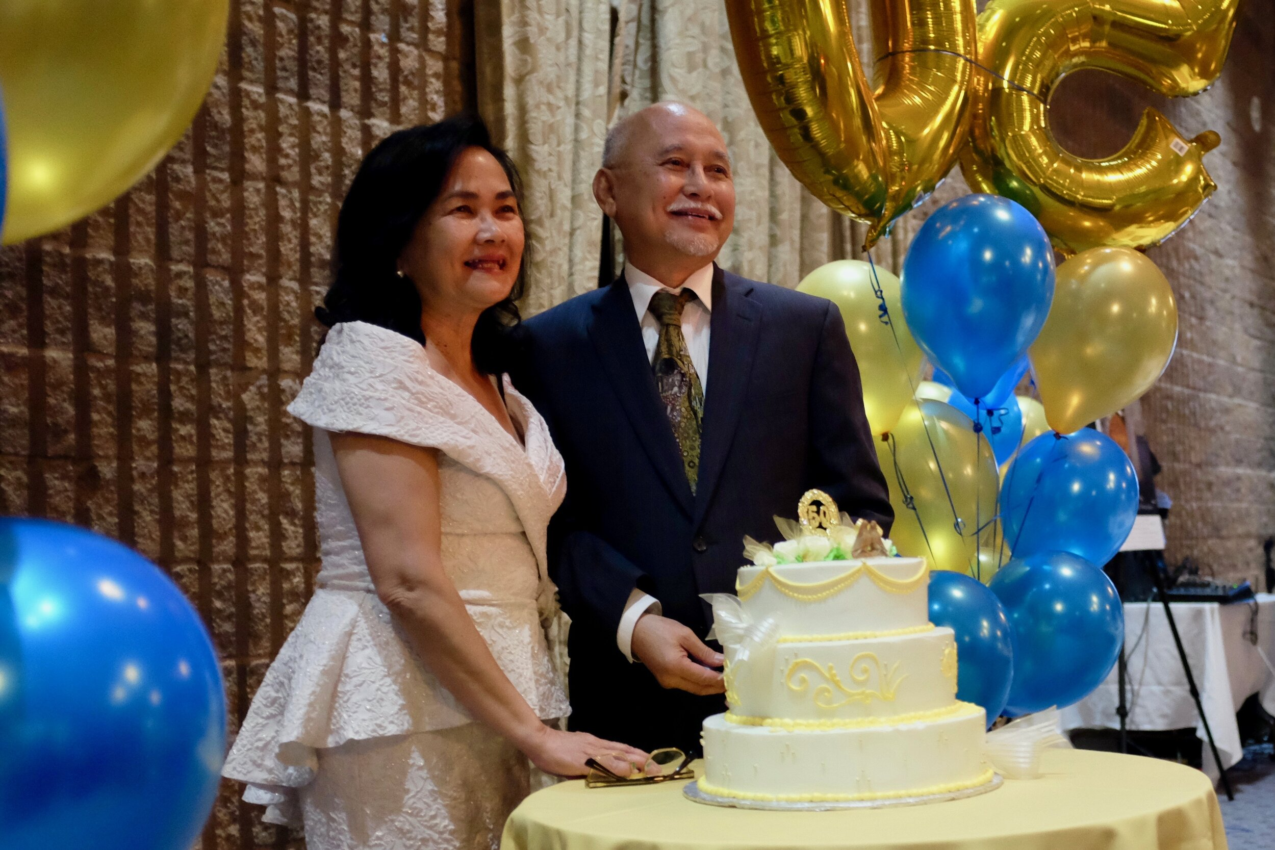 Mila Astorga Garcia and Hermie Garcia on their 50th wedding anniversary. Photo by J. Austria.