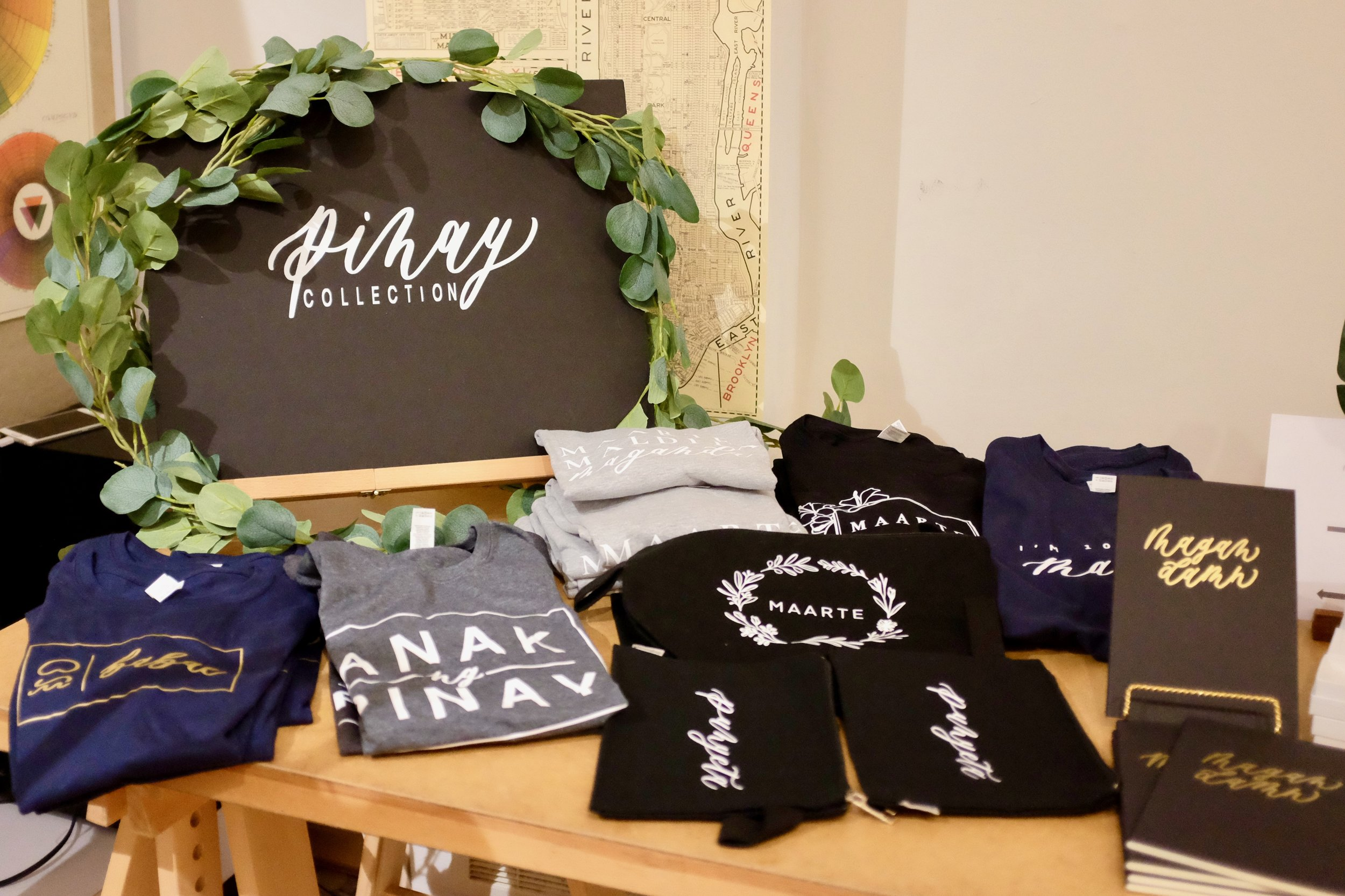 Pinay Collection merchandise. Photo by J. Austria