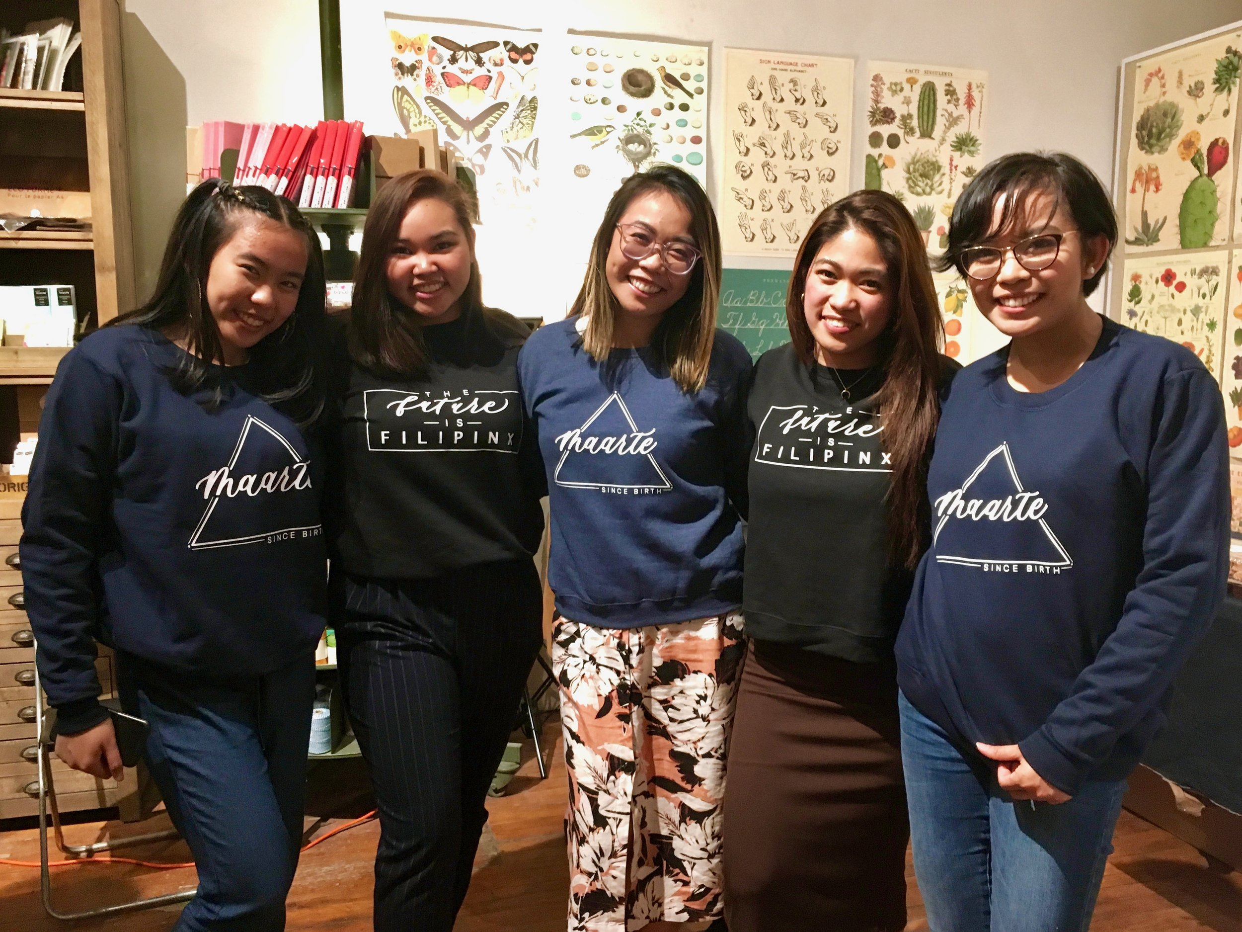 New customers showing off their Pinay Collection purchases. Photo by J. Austria