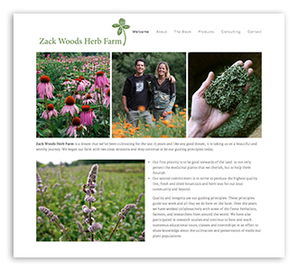 Zack Woods Herb Farm , website and photography