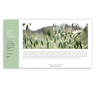 Vermont Herb Growers Cooperative , website and photography