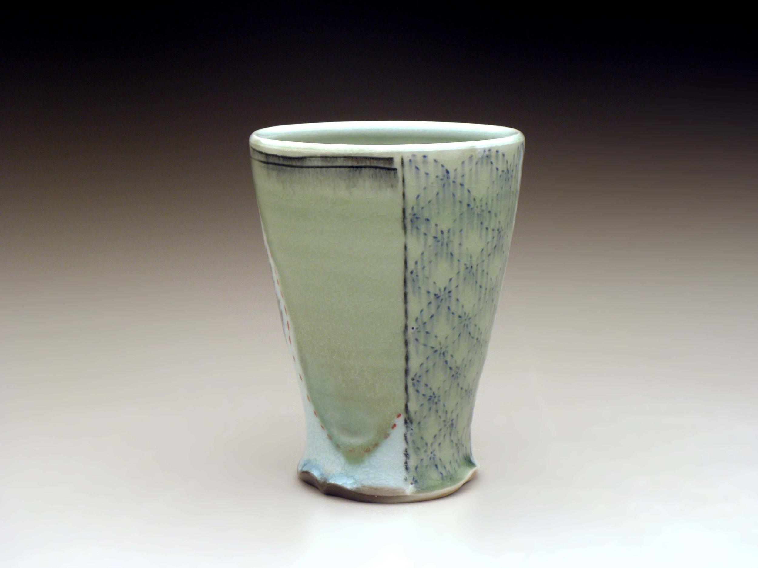 Blue Embroider Mug