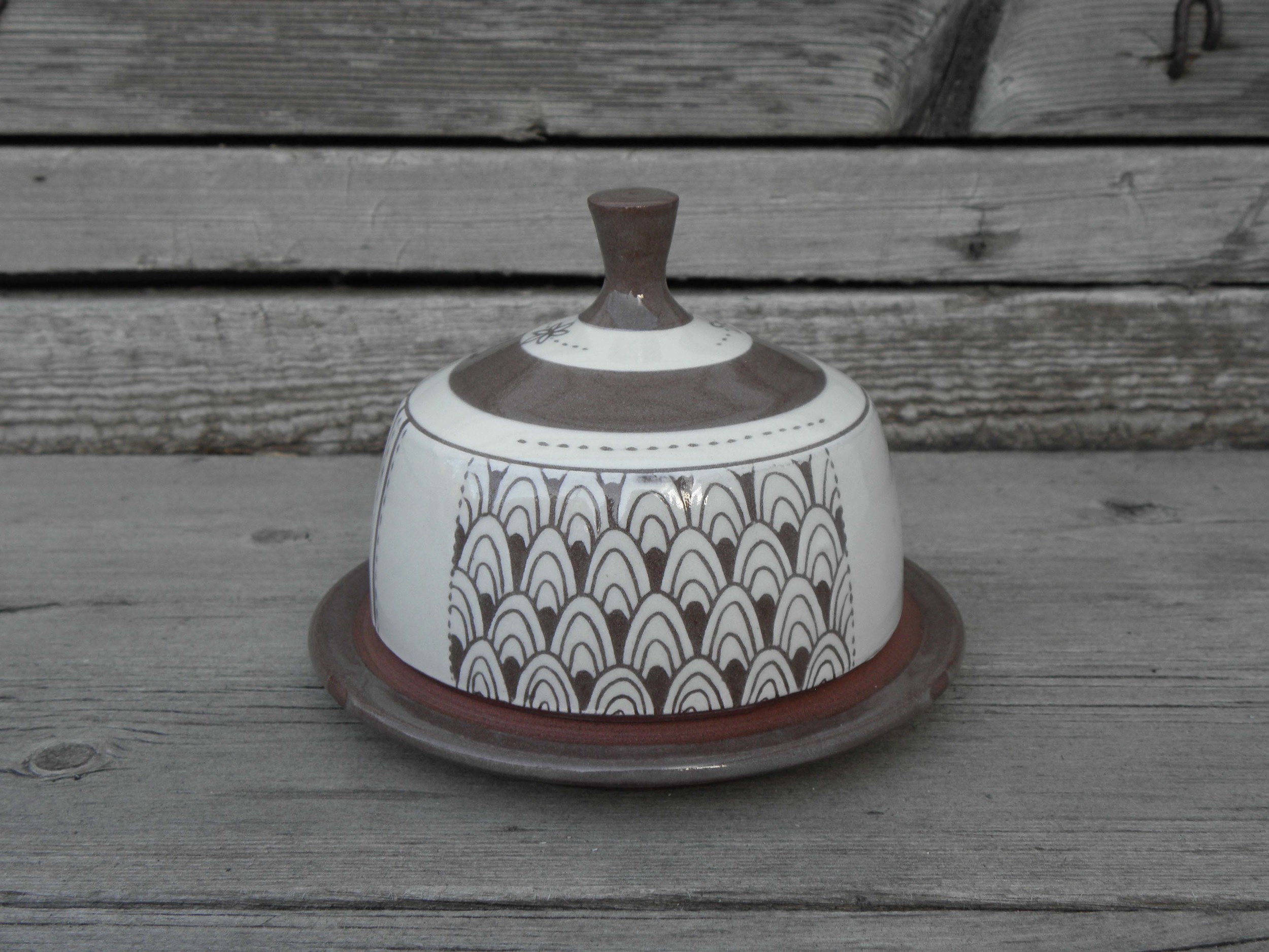 Banded Butter Dish