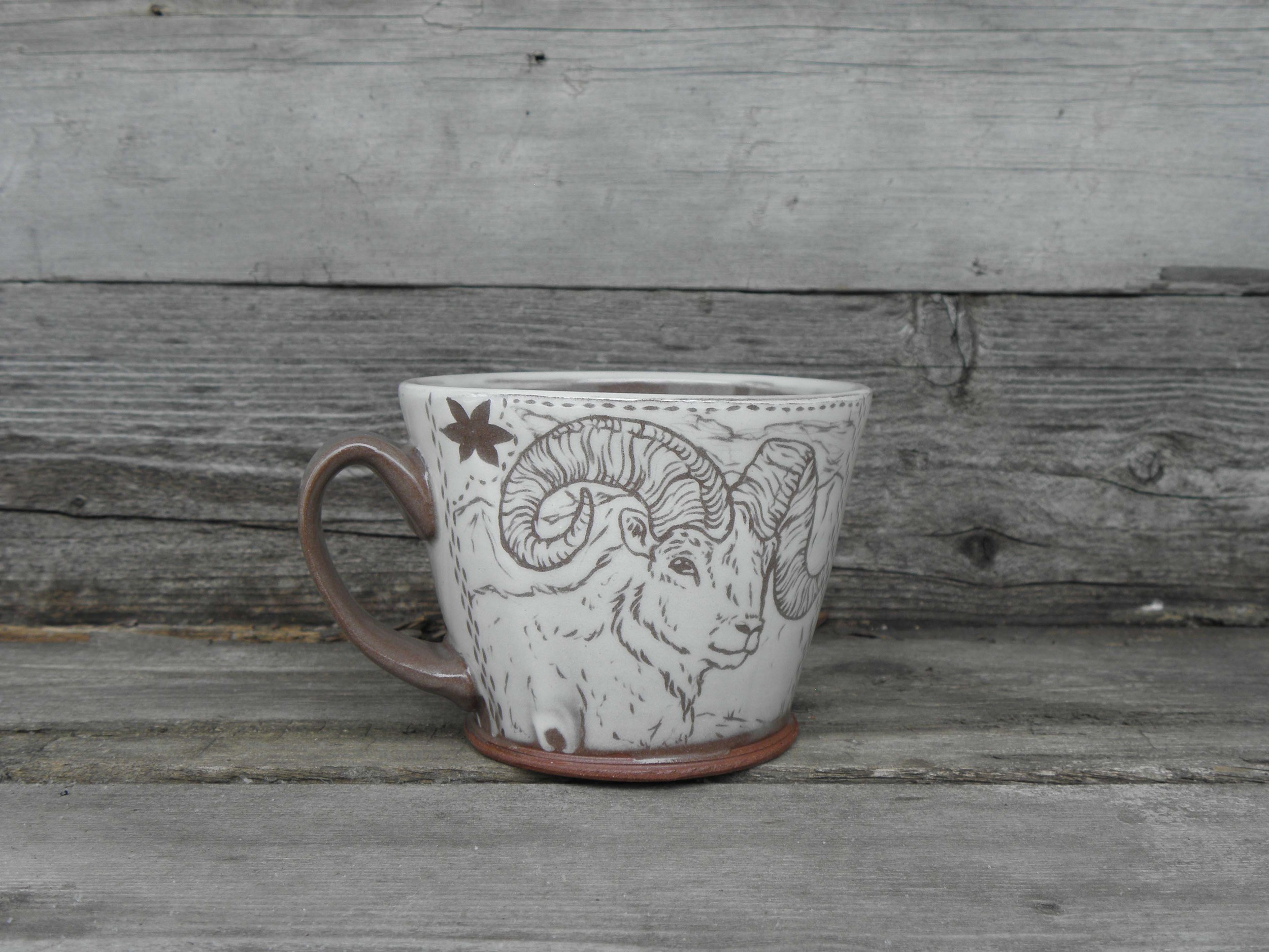 Dall Sheep Mug, Side One