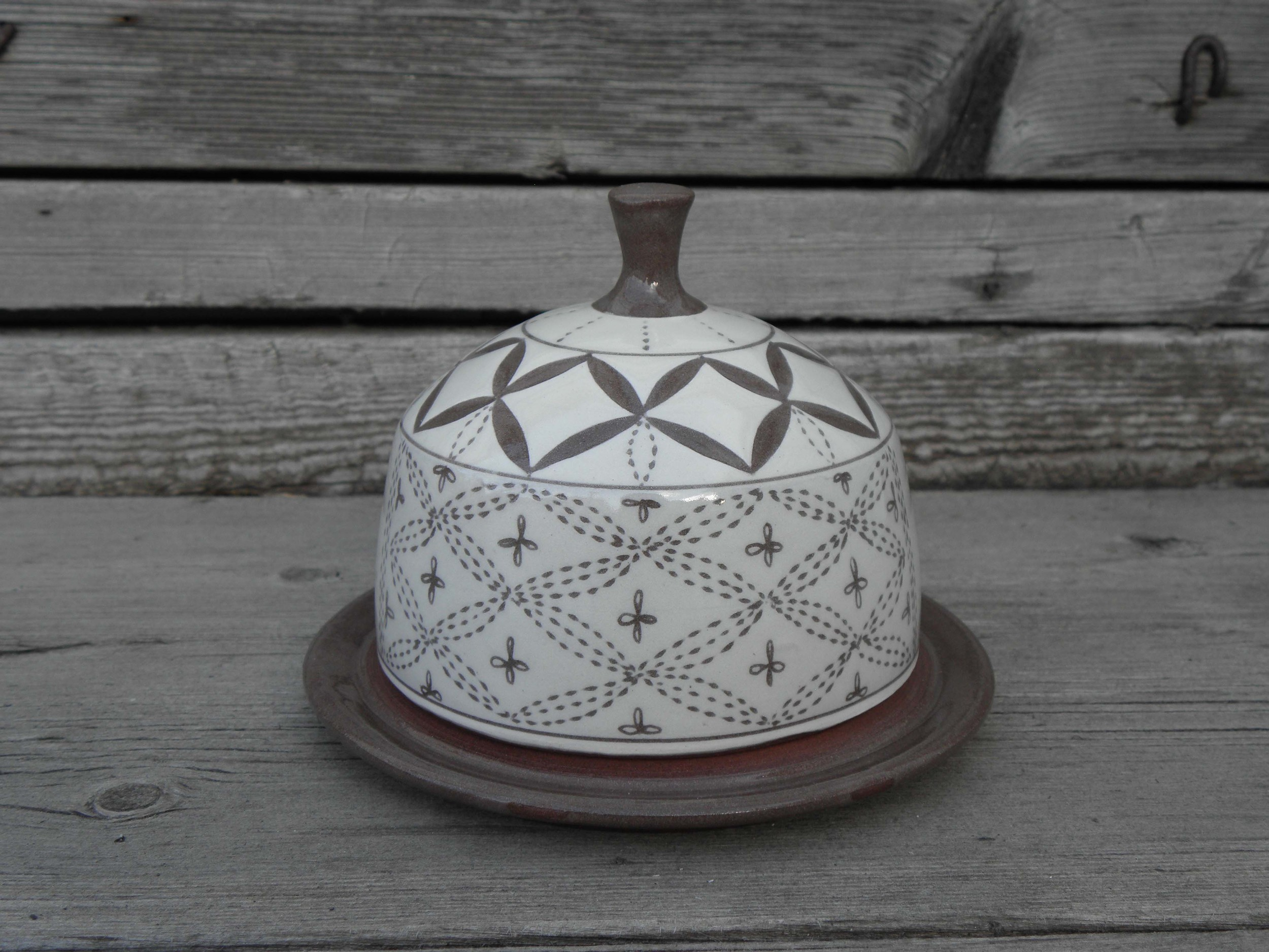 Lace Butter Dish, side one