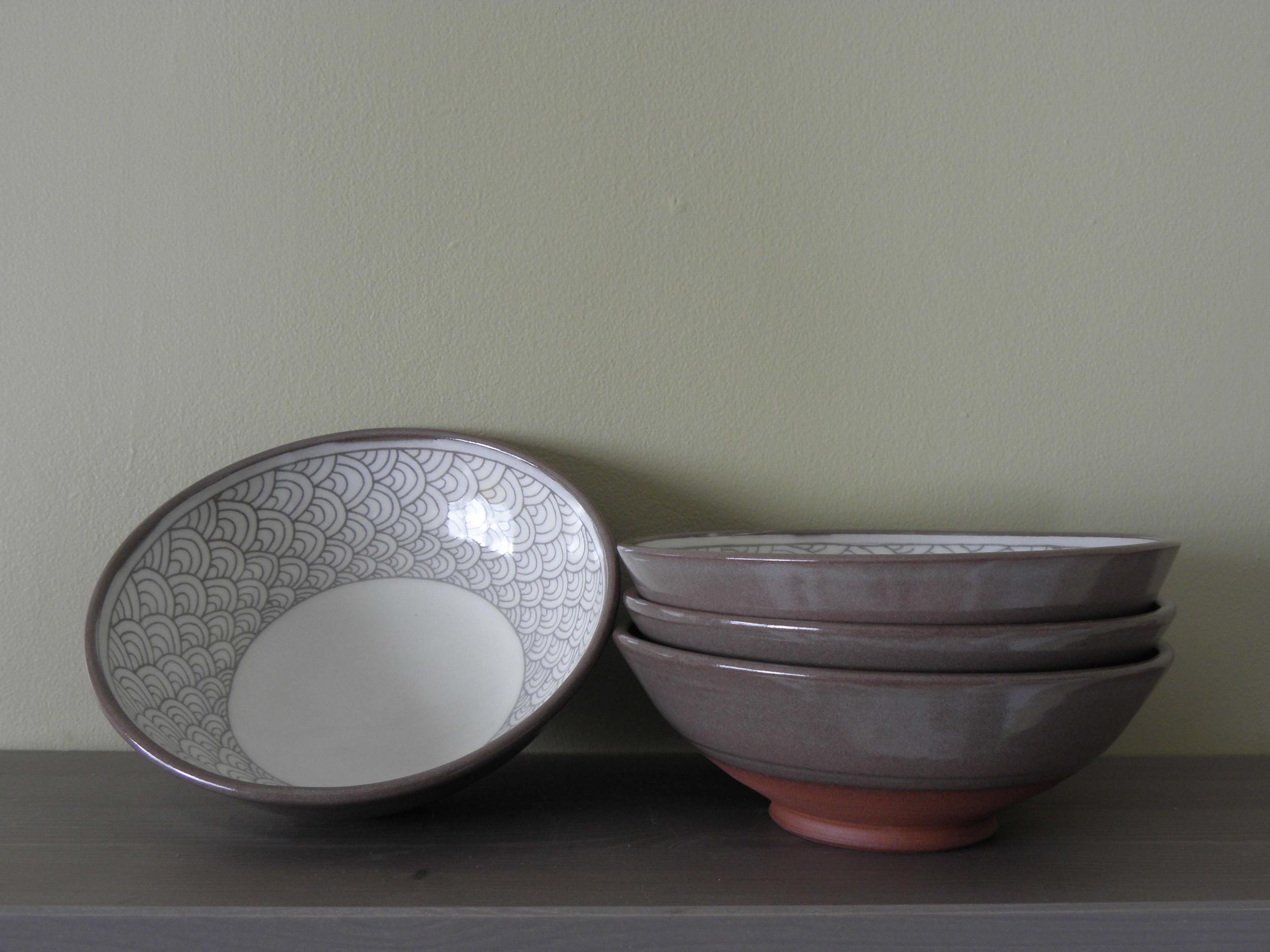 Pattern Banding Bowls, indoors