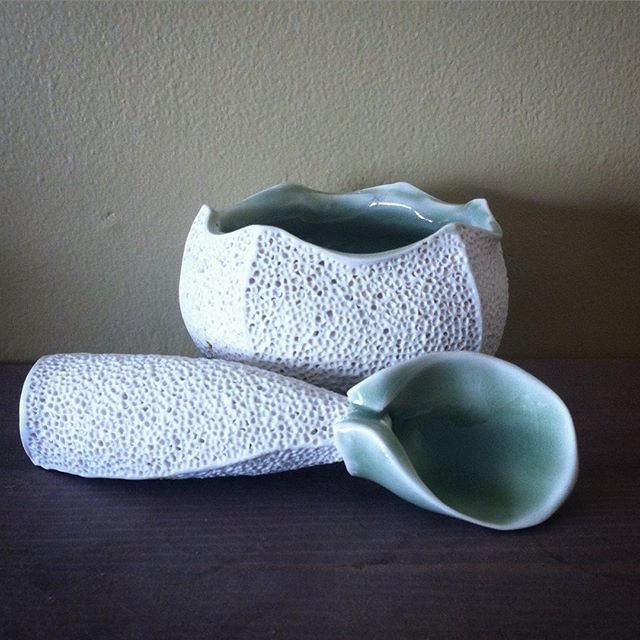 A little #tbt as I get ready to teach a throwing and altering workshop here at the Pass Pottery Club. I haven't posted much ceramics lately; in less than two weeks I will be moving to attend graduate school at Utah State University and while I am excited I am also feeling: terrified, paralyzed, guilty, heartbroken, scared, over-my-head...well. Complicated. Good to revisit this piece from my fourth year at ACAD and a time where I felt more sure of myself and my place in clay.
