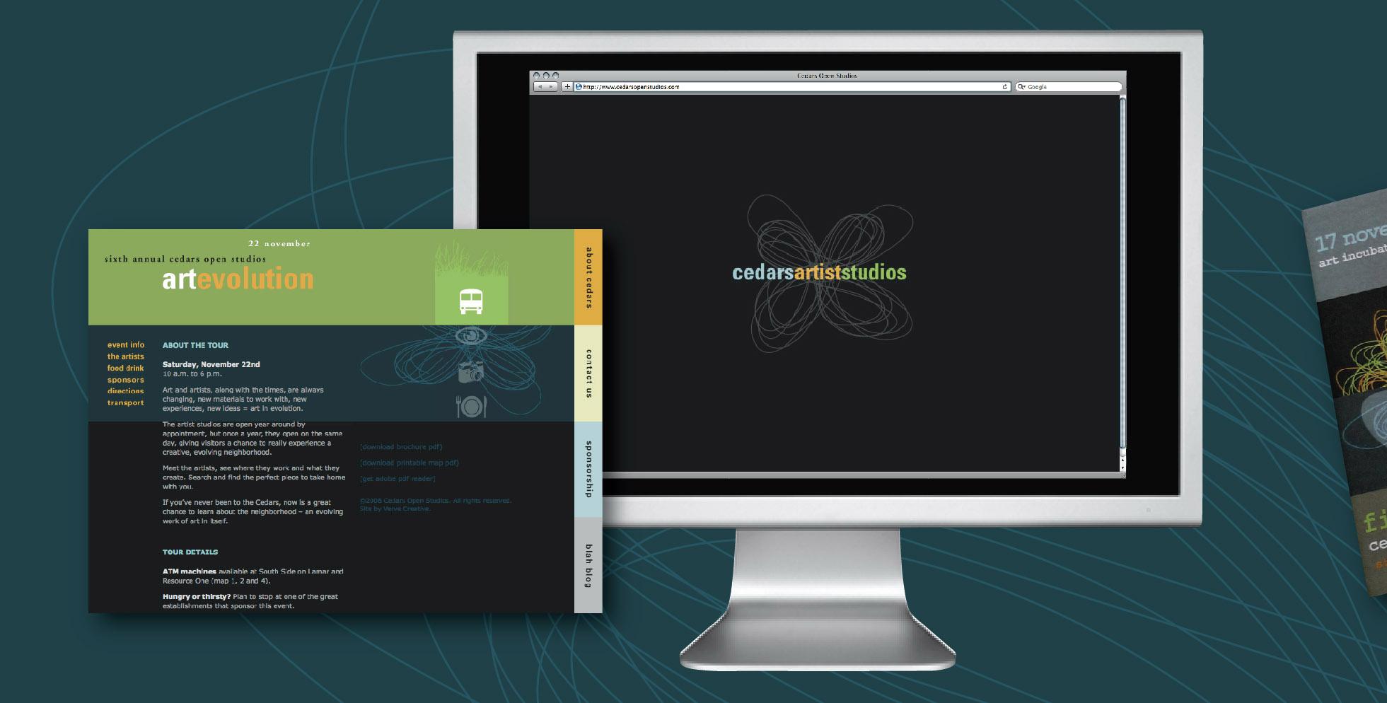 DesignCode : Brand Identity : Cedars Open Studios : Gallery 1