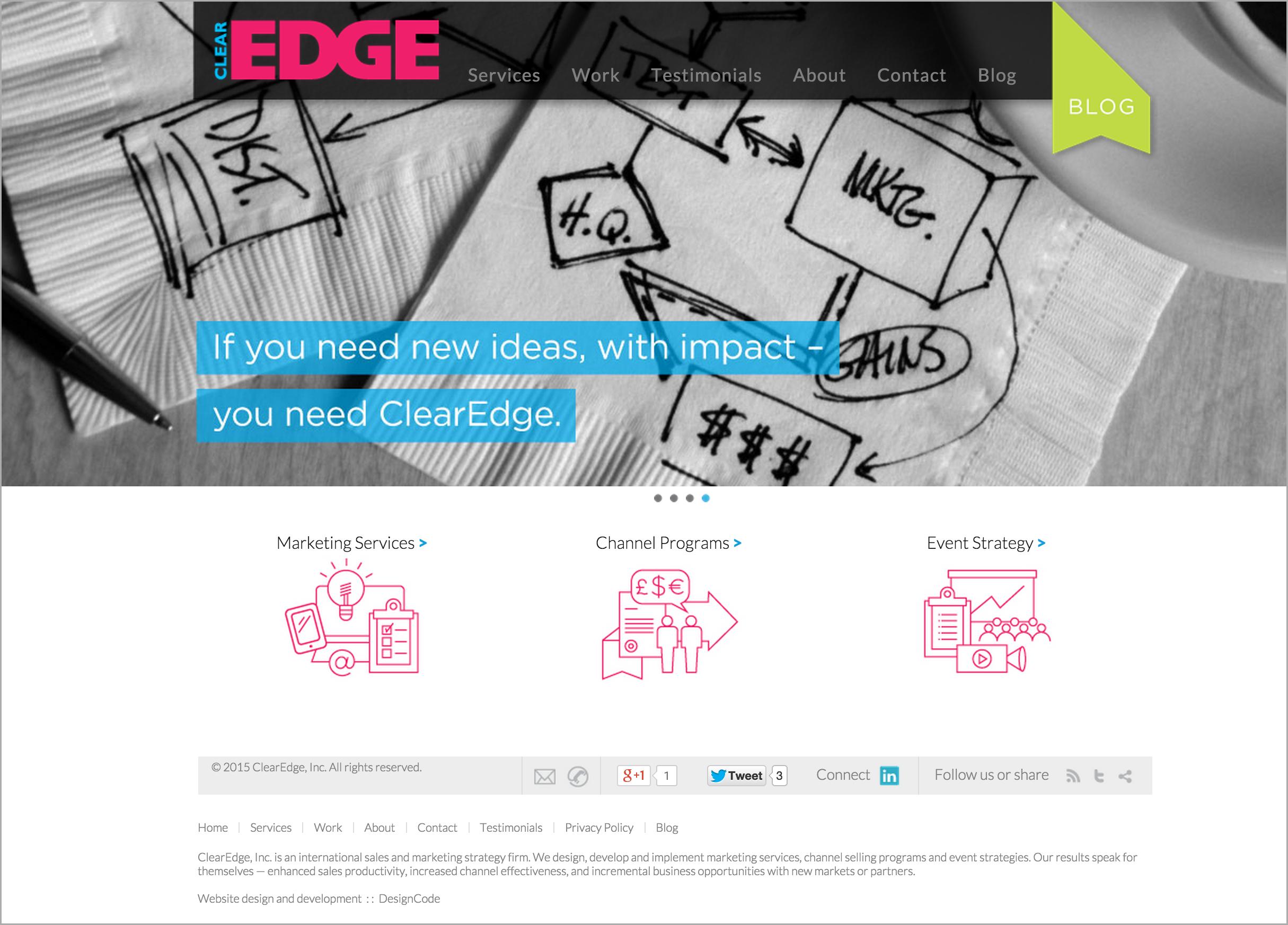 ClearEdge Inc. Website Design | DesignCode | Austin, Texas