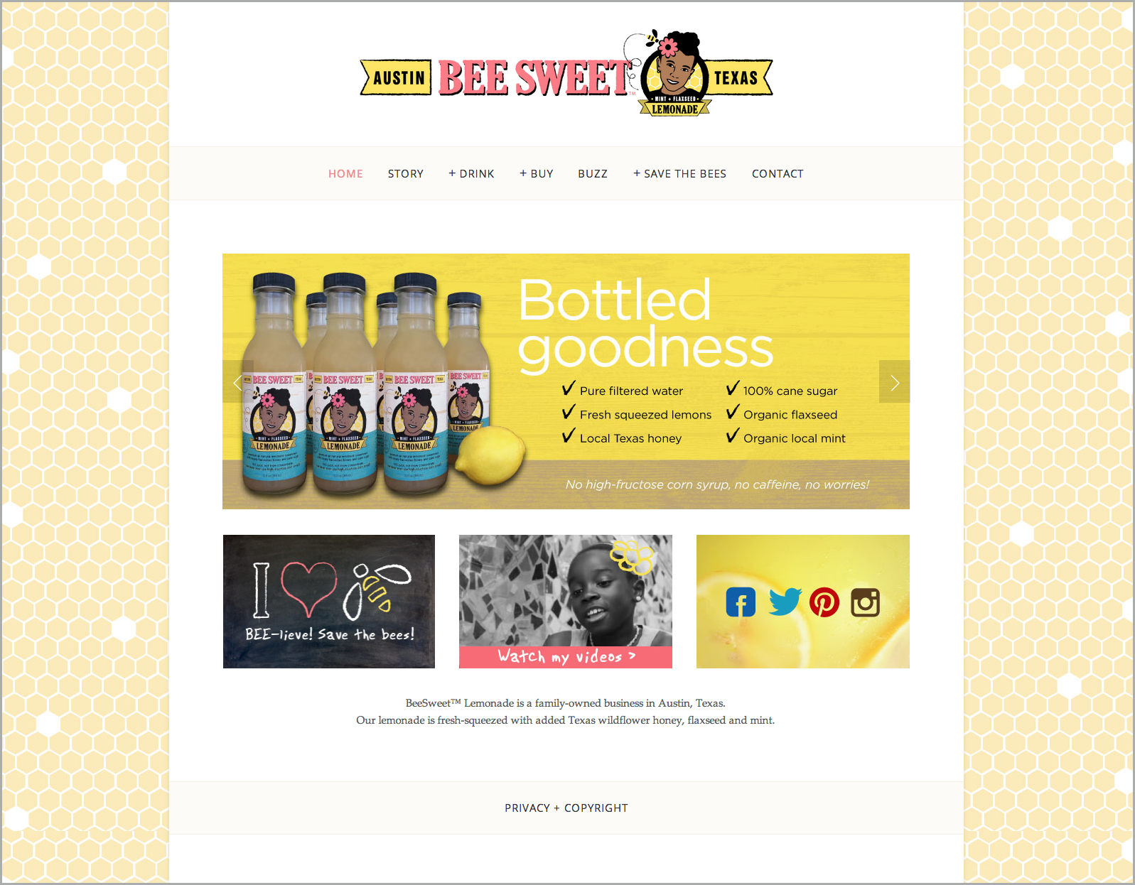 BeeSweet Lemonade Website Design | DesignCode | Austin, Texas