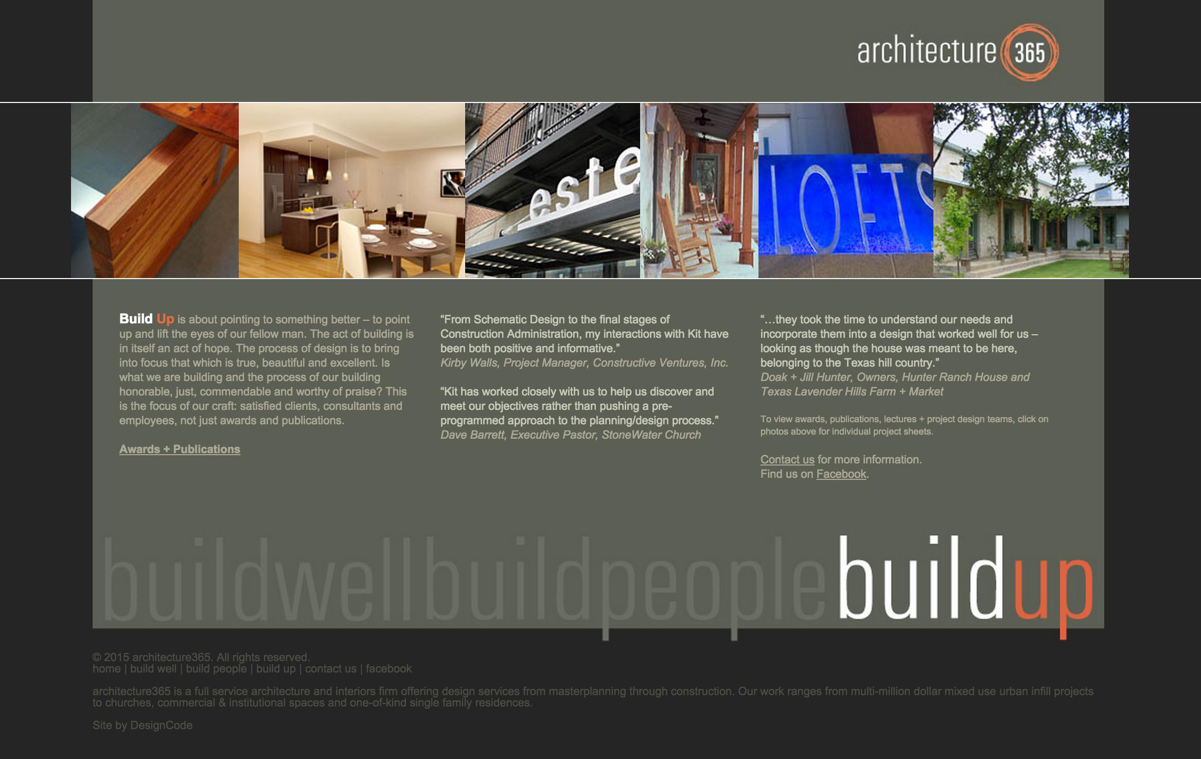 architecture365 Website Design | DesignCode | Austin, Texas