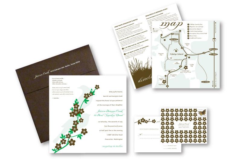 Custom Wedding InvitationDesign    DesignCode   Austin, Texas