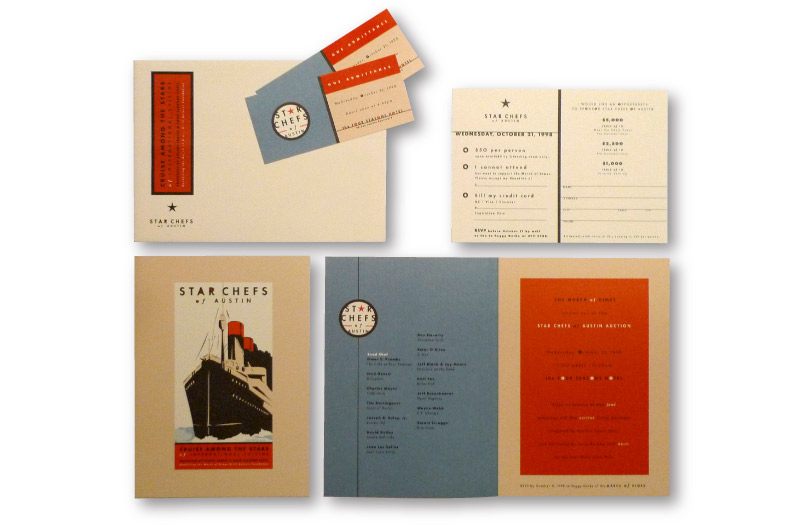 Custom EvenInvitationDesign for March of Dimes Star Chefs of Austin    DesignCode   Austin, Texas