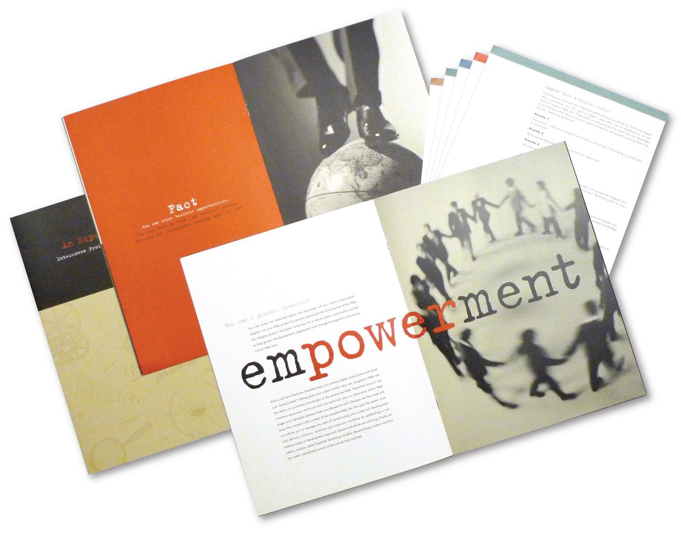 Interwoven Just the Facts Brochure Design  | DesignCode | Austin, Texas