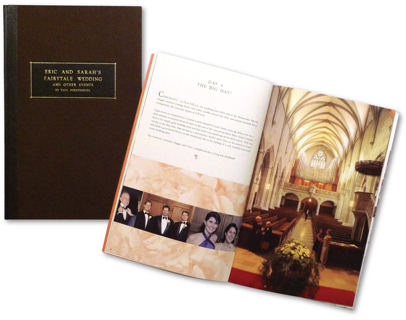 Custom Wedding BookBrochure Design  | DesignCode | Austin, Texas