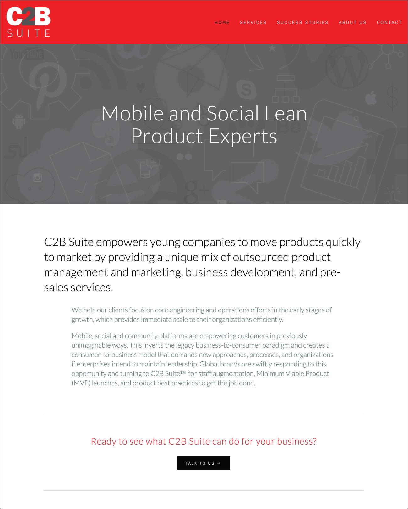 C2B Suite Website Design | DesignCode | Austin, Texas