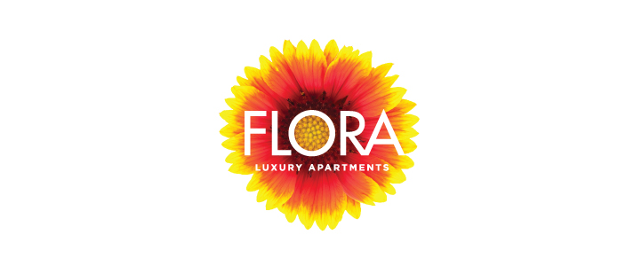 Flora Luxury Apartments Logo Design   | DesignCode | Austin, Texas