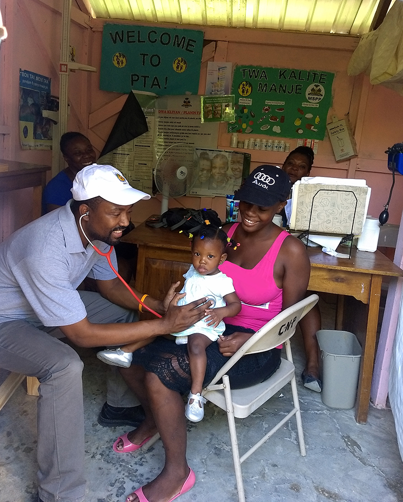 Dr. Anany at work in Leogane.