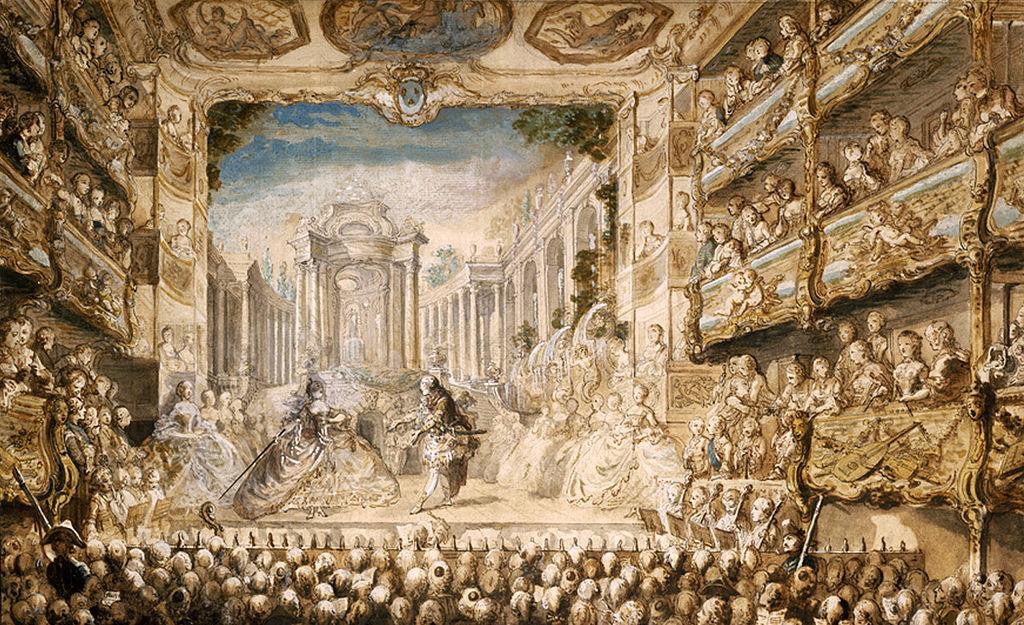 "Saint-Aubin,  Lully's ""Armide"" performed at the Palais-Royal , 1761"