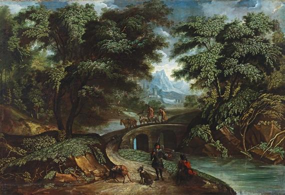 Wooded landscape, German, 1665