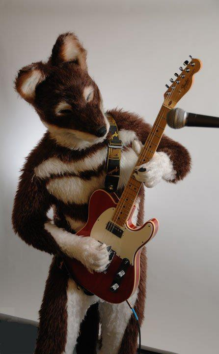 Foxy Fursuiter. AJ Rocking Out!