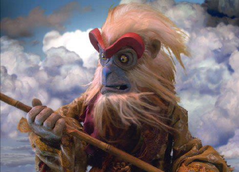 The Monkey King from Sizzling Kung Fu Mice. Fabricated and performed by Shadow Puppets for Sony Studios