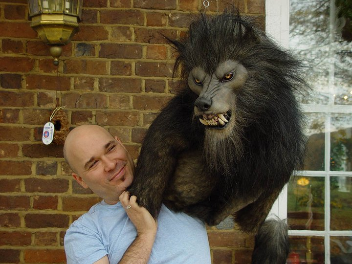"Lee Romaire of Romaire Studios and a Werewolf he Fabricated for a short film, "" The Caregiver"". Shot in Tennessee"