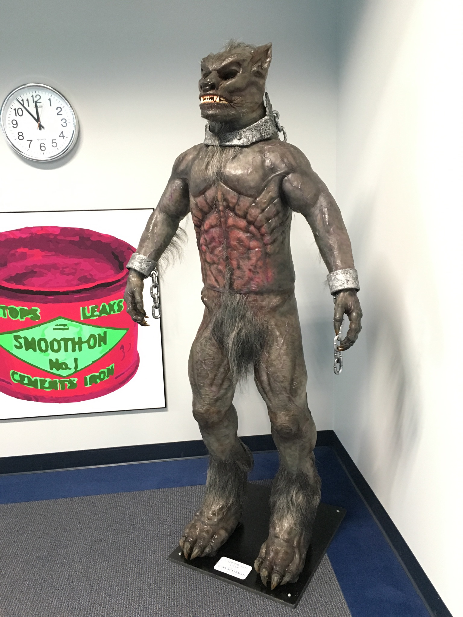Underworld Lycan located at the Smooth On head office. Made by Master Artist Tony Ackerman @ CosProps In Kansas City Mo.