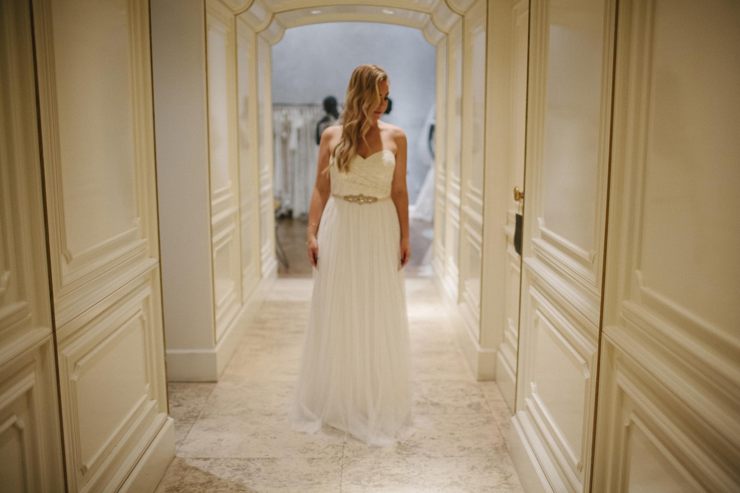 BHLDN white bridesmaid dress