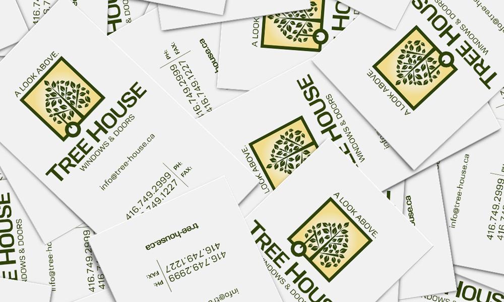 Treehouse Windows & Doors | Logo/Cards | Toronto, ON