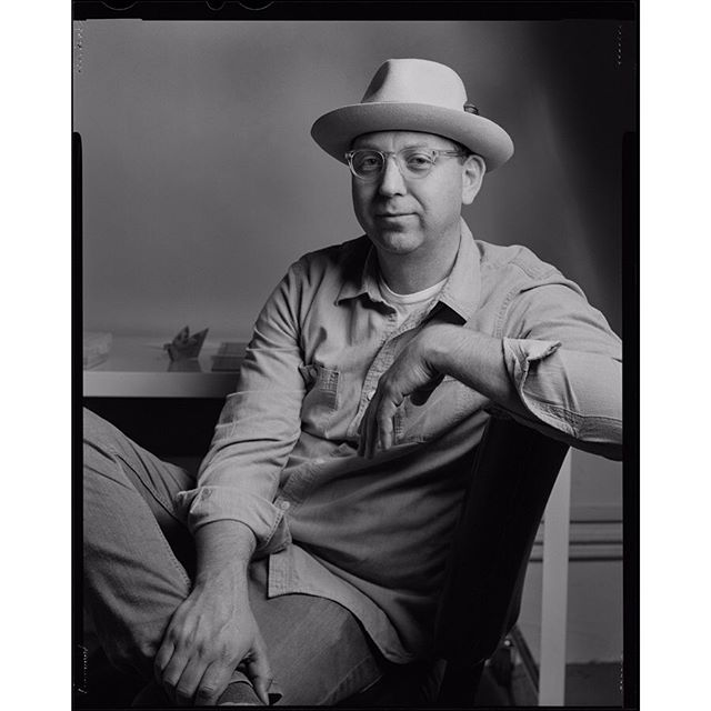 Good friend Jamie Smith, founder of the @socialfabriccollective and future #tedx speaker in #studio3z for a portrait. . #portrait #studio #filmisnotdead #4x5 #blackandwhite #chamonixviewcamera #ilfordfp4 #ltilightside #largeformat #largeformatphotography
