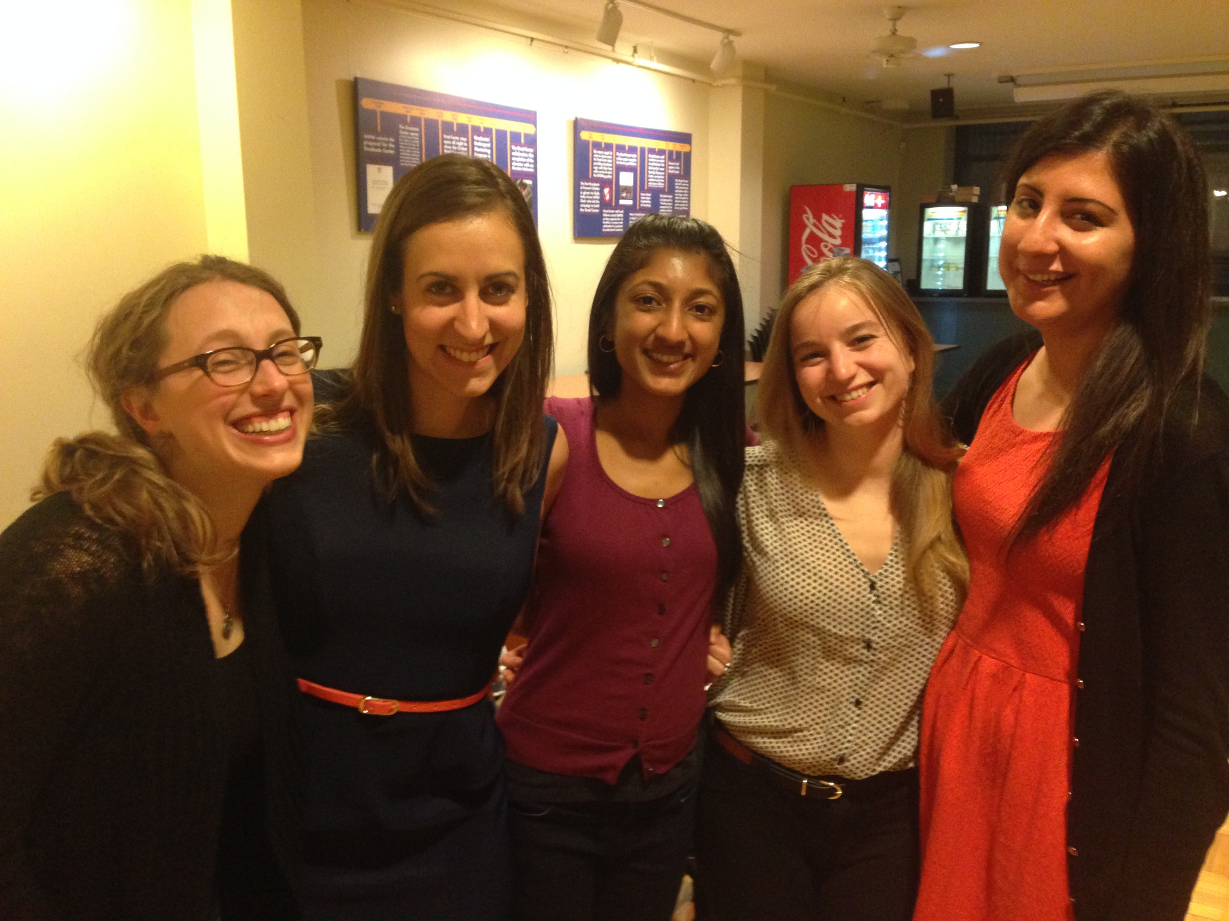 WSAWBA BOARD (and founders)2014. From left to right: Nora, alix, preethi, jessica, basima