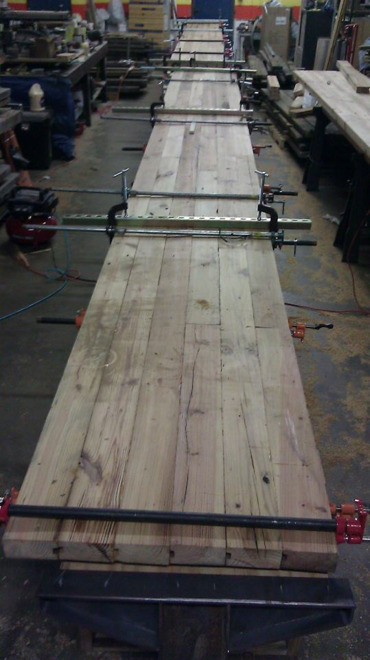 Assembling the long Snappy tables