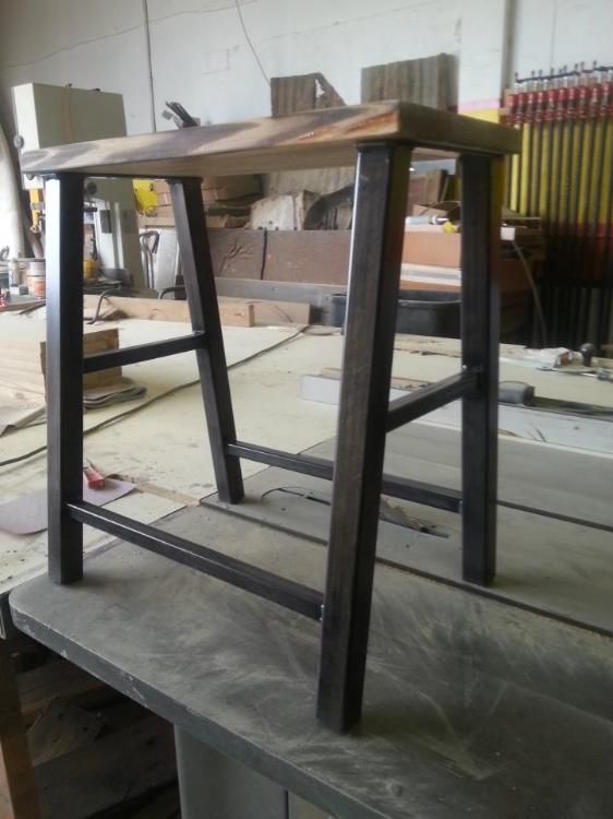 Custom Wood Top Stools