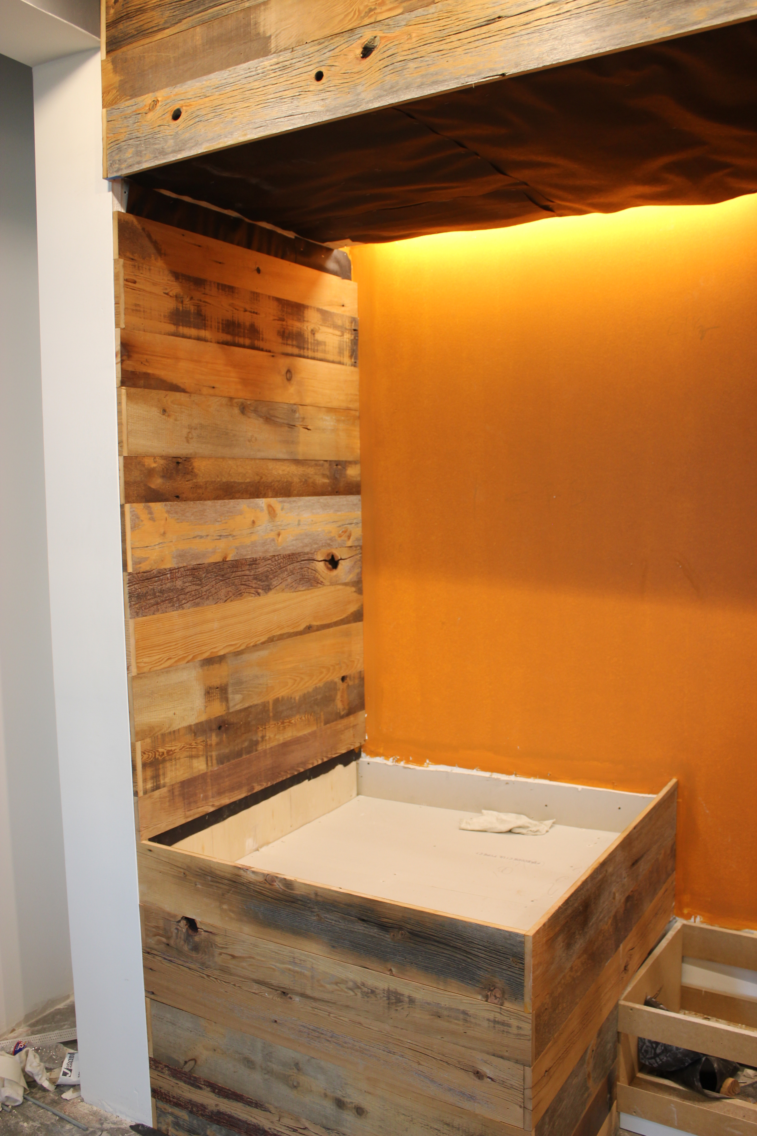 CRC Mastercraft did an excellent job installing the wall paneling.