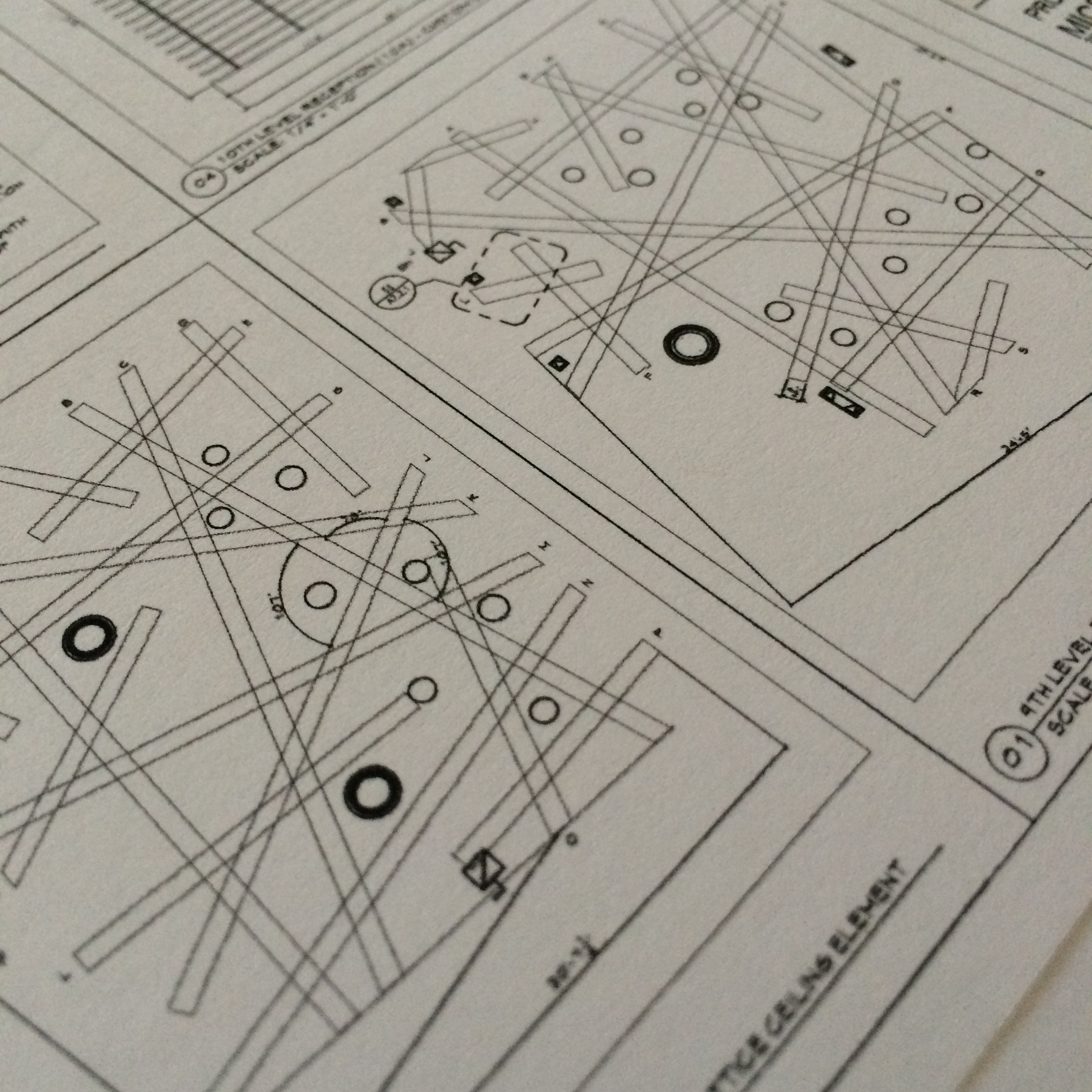 A sneak peek at the structure's shop drawing.