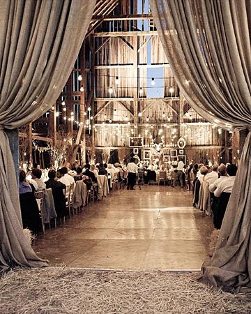 Glamourous Barn Wedding