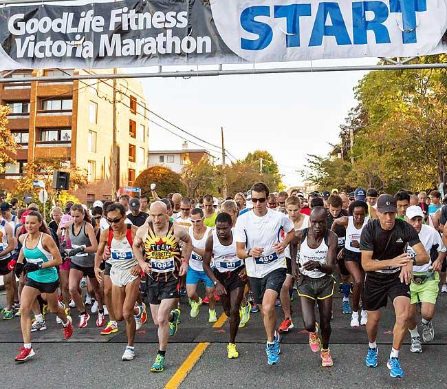 Barb: Watch Nick at the Victoria Marathon