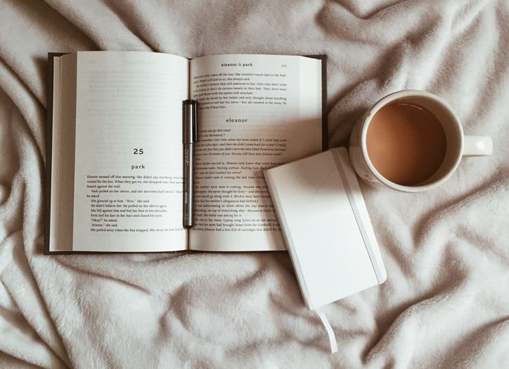 Laura: Curled up with a cup of coffee and a good book