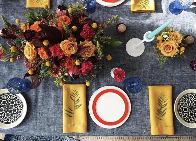 Source: Faire la Fete Linens/Bash Specialty/ Verbena Floral Design/ Rock Paper Square