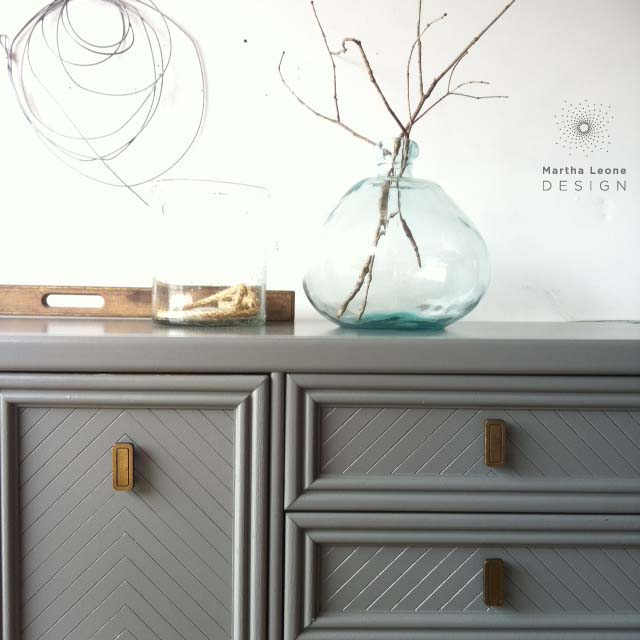 Gray painted dresser, How to style furniture