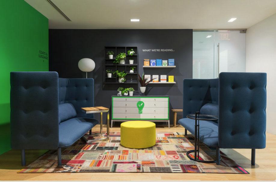 Custom credenza for Arcadia Power, a clean energy company.  Interior Design:  Nicole Lanteri Design  • Photography:  Kimberly Frost